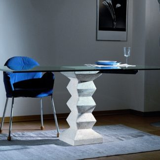 stone table en verre