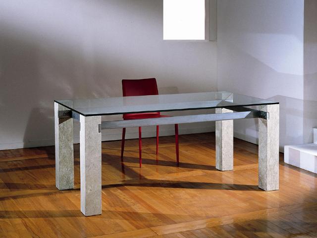tavolo da soggiorno idesign con cristallo ulisse
