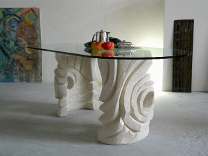 table moderne plateau en verre