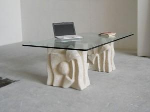 tavolino moderno per salotto con cristallo