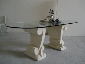 table platueu en verre classique
