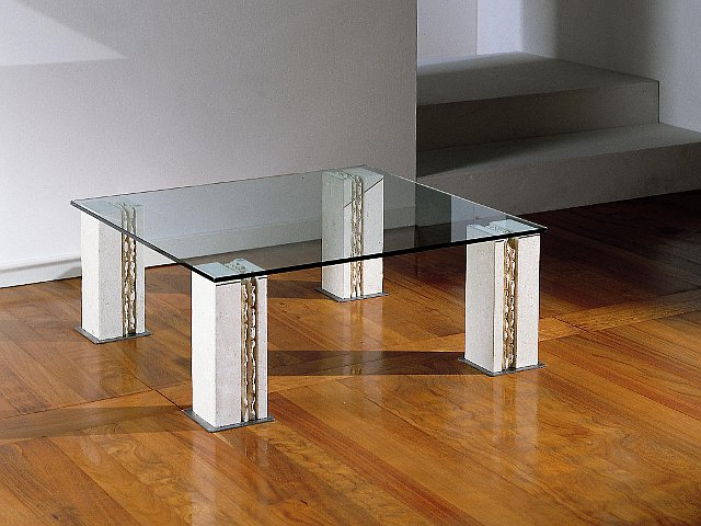 tavolino soggiorno moderno con cristallo