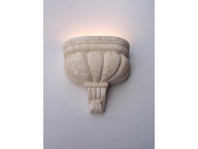 lampada applique classica in pietra