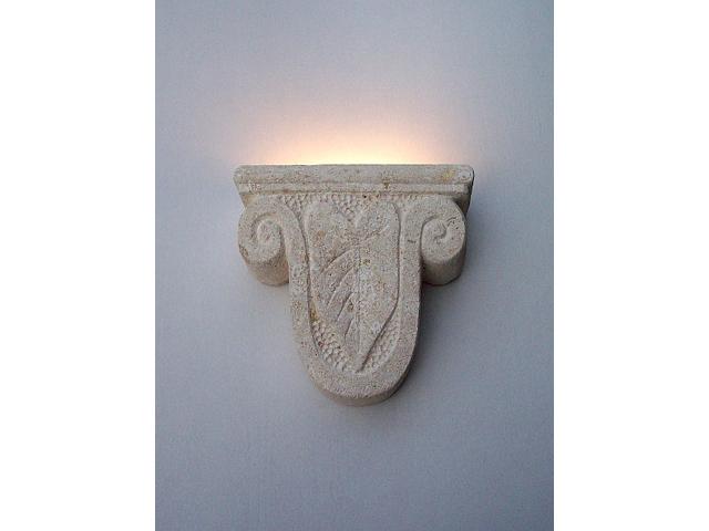 lampada applique in pietra
