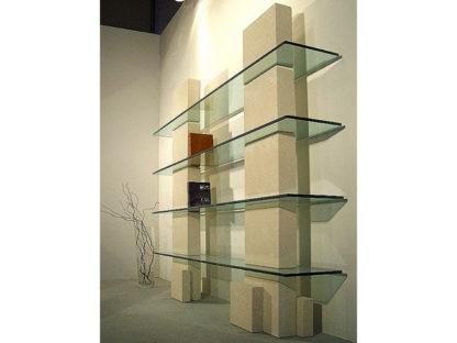 libreria moderna cristallo design