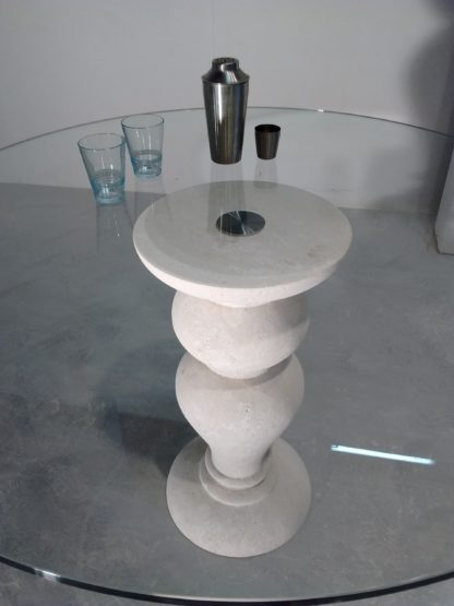 basamento pietra per tavolo cristallo