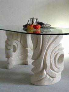 tavolo soggiorno con vetro ovale