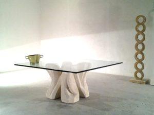 Dadà tavolino da salotto moderno in cristallo