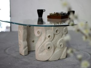 tavolino da salotto cristallo ovale