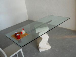 tavolo in cristallo da pranzo