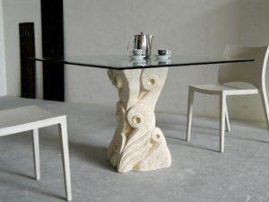 tavolo da pranzo in cristallo