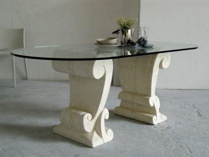 tavolo cristallo ovale