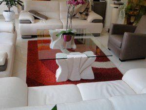tavolino moderno da salotto con cristallo