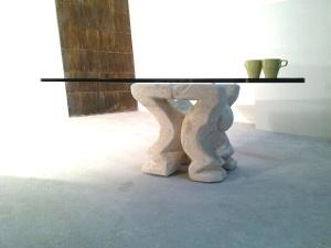 tavolino da salotto in vetro moderno