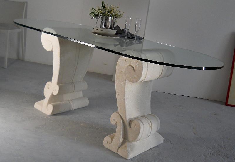 table salle à mager en verre