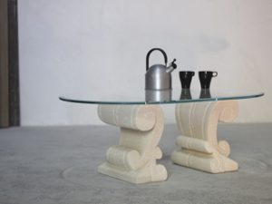 coffee table stones and glass classic