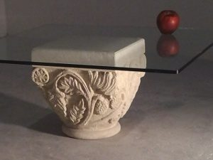 table d'appoint classique en verre fait main