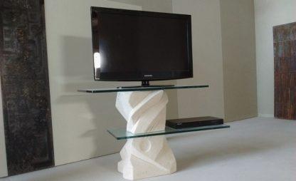 porta tv pietra cristallo cubista large