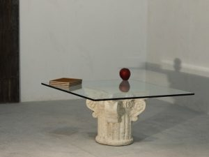coffee table glass top classic design