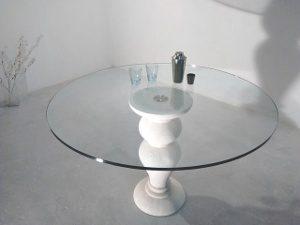 table verre ronde classique