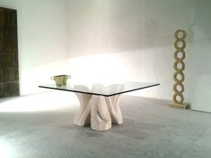 coffee table moderne en verre