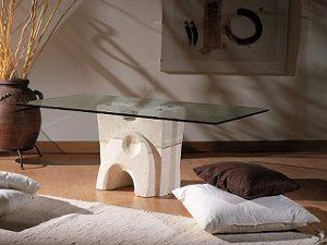 tavolino pietra cristallo pesceluna