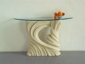 table console moderne en verre