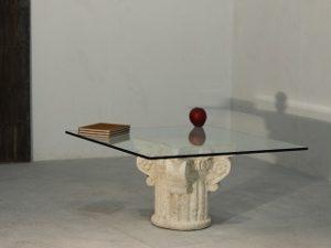 tavolino salotto classico in cristallo