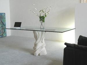 tavolo sala da pranzo moderno con cristallo