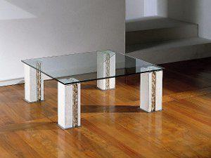 tracce table basse en verre