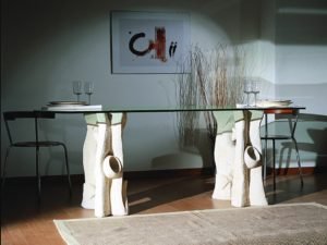 tavolo in cristallo design moderno cristallo ovale magellano