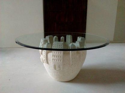 tavolino moderno da salotto cristallo rotondo