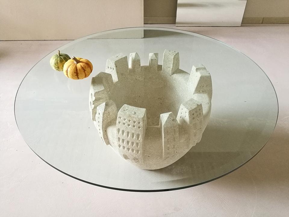 Tavolini da salotto in cristallo artistici | STONEBREAKERS