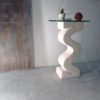 flex table console pierre et verre