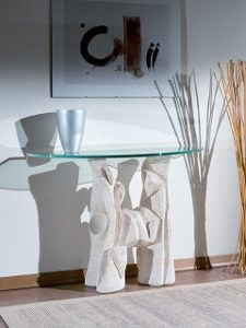 tavolino pietra e cristallo magellano
