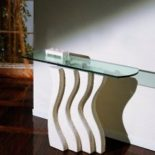 onda table console pierre et verre
